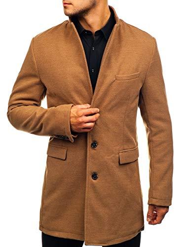 Elegante Mantel (BOLF Herren Wintermantel eleganter Look Coat Mantel mit Offener Revers-Kragen J.Boyz 1047 Camel L [4D4])