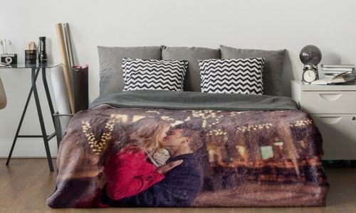 Personalised Custom Made Soft Fleece Digital Photo Printed Blanket Bed Throw Size: Baby, Single, Double & Pillowcase Produly Made in UK (Baby, 75x100cm)