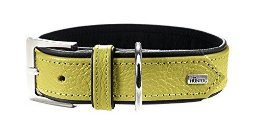 HUNTER Capri Halsband für Hunde, Leder, Nappa, weich, lindgrün, 35 -
