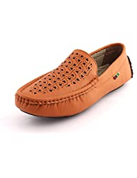 AORFEO Men's Leather Lofers For Men Casual Mens Loafer Shoes LD05
