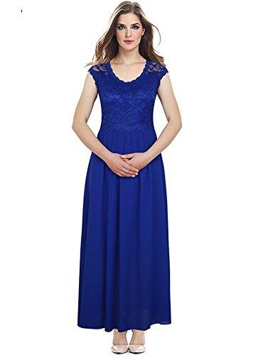 Bafei - Robe - Cocktail - Sans Manche - Femme Bleu
