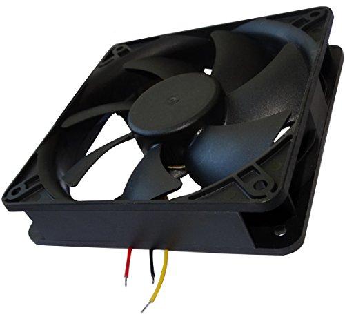 AERZETIX: Ventilateur pour boîtier 24V 120x120x25mm 127,5m3/h 34dBA 2200rpm 2W 0.084A à billes 3 fils 24AWG C14559