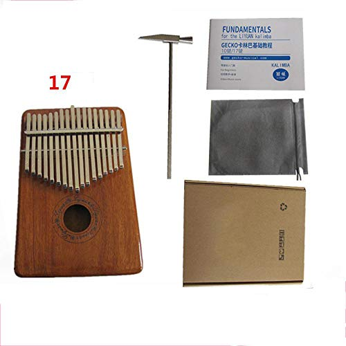 Laogg Kalimba Carlin Marimba 17-Ton Daumen 10-Ton Finger-Kern Mahagoni EIN-Platten-Finger Klavier 7-Ton Kokosnussschale -
