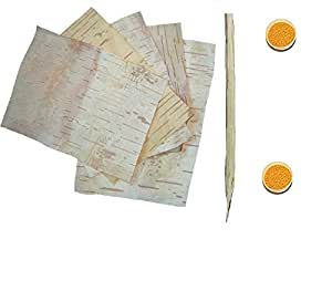 Neeraj Traders Bhojpatra 5 Sheets with Asthgandh Ink and Pomegranate Pen for Mantra Siddhi Writing Kit