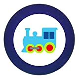 "Türknauf ""Lokomotive"" dunkelblau Holz Buche Kinder Kinderzimmer 1 Stück Fahrzeuge"