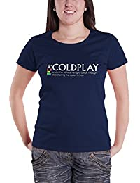 Coldplay T Shirt Under The Surface Nue offiziell damen Skinny Fit Navy Blau