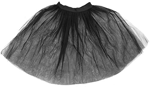 Kostüm 1950's Dance - ILOVEFANCYDRESS 48 x SCHWARZER Netz Unterrock Petticoat Tutu 50'S Rock N ROLL