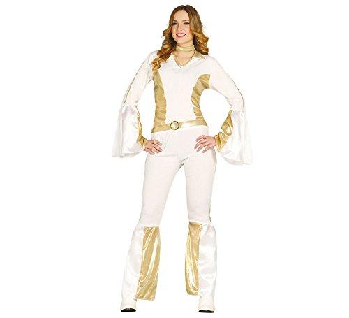 80er Sexy Jahre Kostüm Star Pop - 80er Jahre Pop Star Kostüm für Damen Gr XS/S und M, Größe:M