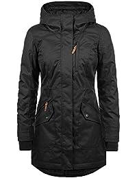 DESIRES Bella Damen Winterjacke Parka Jacke mit hochabschließendem Kragen und Kapuze aus hochwertigem Material