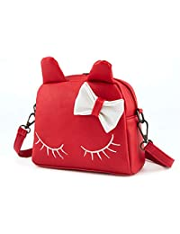 5ccf02f5b Elegante Simplicidad para niñas Cute Cat Ear Purse Mochila Mini Bolsas con  Arcos Crossbody Shouder Bag