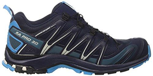 Salomon Herren XA Pro 3D GTX Traillaufschuhe, Blau, 49.3 EU Blau (Navy Blazer/hawaiian Ocean/dawn Blu)