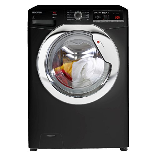 Hoover DXOA49C3B A+++ Rated 9kg 1400 Spin 15 Programmes Washing Machine in Black Best Price and Cheapest