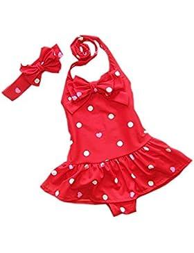 DELEY Bambino Bambine Costumi da bagno Polka Dot Bikini Costumi da bagno Costumi da bagno Con Cerchietti
