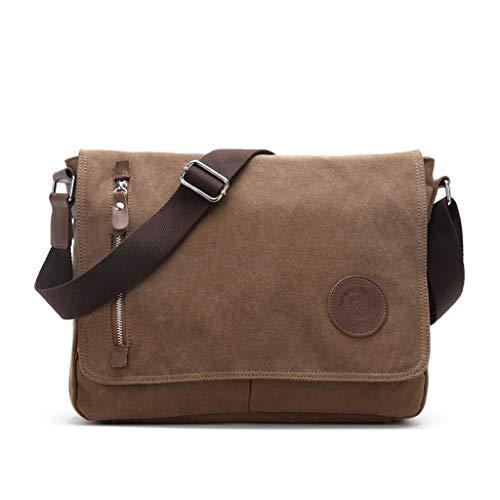 Mitlfuny handbemalte Ledertasche, Schultertasche, Geschenk, Handgefertigte Tasche,Jungen Canvas Umhängetasche mit koreanischen Casual Student Bag Messenger Bags - Koreanischen Tasche