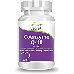Natures Velvet Lifecare Coenzyme Q-10 100mg, for Heart Health & Energy Metabolism, 60 Softgels - Pack of 1