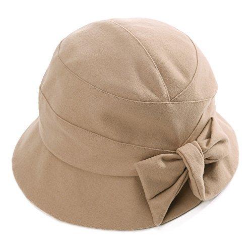 SIGGI SIGGI Damen weiche Glockenhut Faltbarer Cloche Bucket Hut 1920s Vintage Damenmütze Kambel