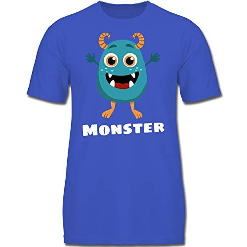 Armee Familie Kostüm - Partner-Look Familie Kind - Monster Partner-Look Kind - 128 (7-8 Jahre) - Royalblau - F130K - Jungen Kinder T-Shirt