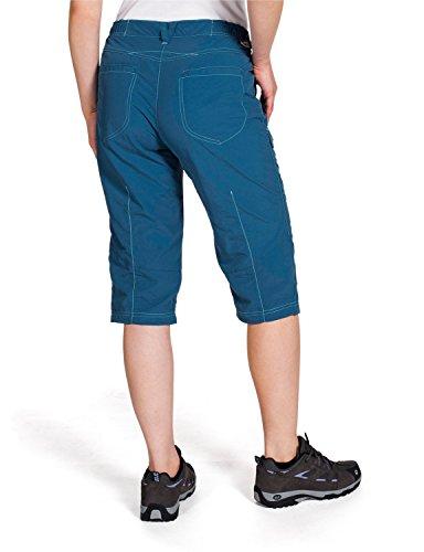 Jack wolfskin atacama pantalon 3/4 de sport pour femme Bleu - Bleu marocain