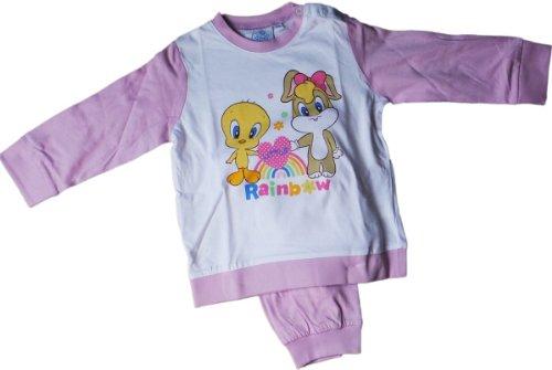 warner-brothers-baby-looney-tunes-zweiteiler-pyjama-schlafanzug-shirt-und-hose-tweety-und-lola-bunny