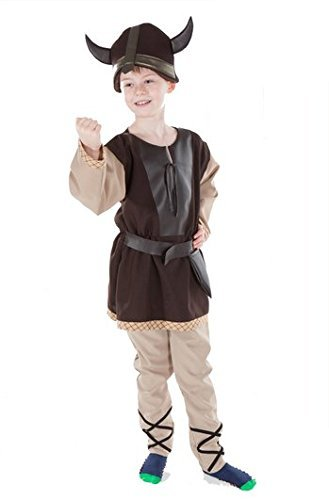 Viking Kinder Kostüm - NORSE pour enfant garçon Viking Guerrier Costume historique 5-7ans