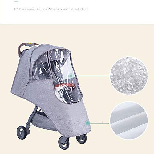 ZTXY Baby Cart parapioggia Poncho Generale Impermeabile Traspirante Anti-Polvere Parapioggia per Auto per Bambini Grigio Rosa Verde,Gray