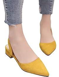 it Medio Amazon Donna Giallo Tacco Scarpe da donna Scarpe qndZd4