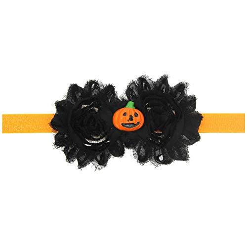 Austinstore Kürbis Totenkopf Blume Halloween Party Decor Baby Mädchen Kopfbedeckung Haarschmuck – 1#, Chiffon, 2#, Einheitsgröße