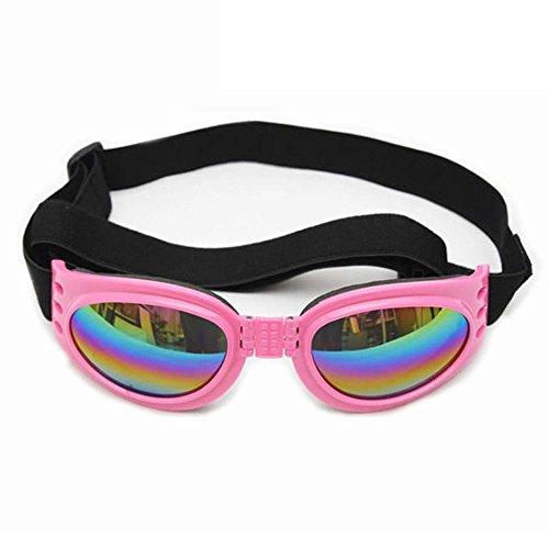 Aolvo dog occhiali da sole, cane, impermeabile antivento pet occhiali, eye wear protezione uv per doggy puppy cat rosa