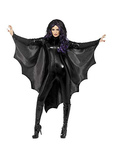 dermaus-Flügel Umhang Damen Vampirin Halloween-Kostüm Fledermaus Flügel Cape Zubehör Accessoire ()