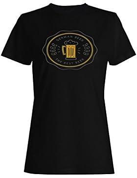 Cerveza alemana cerveza arte vintage camiseta de las mujeres d684f