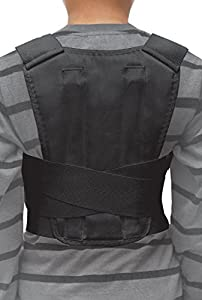 Posture Corrector Back Support Brace for Kids, Teenagers & Young Adults - Medium Black