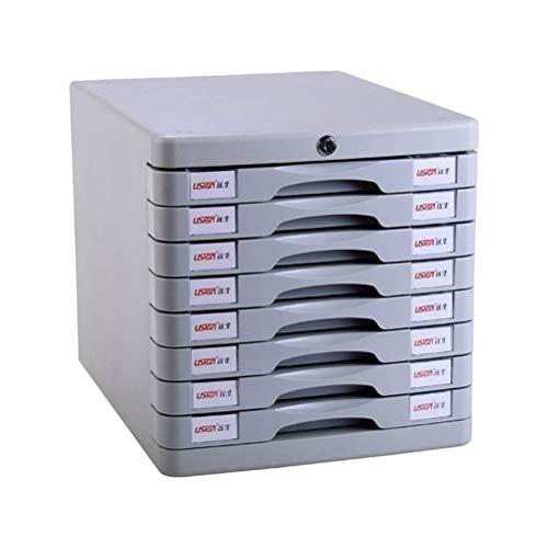 Wtbew-u 8-lagige Flache Aktenschränke, Office Desktop Schubladenschrank Datenspeicherbox Mit Schloss