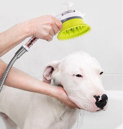 JW Co Ltd JW-Haustier Massage Dusche Sprayer B-Typ (grüne/White), Haustier Dusche, Hundesalon Dusche Doggy-Kopfmassage 3,9 x 3,9 x 4,3 Zoll (Hundesalon)