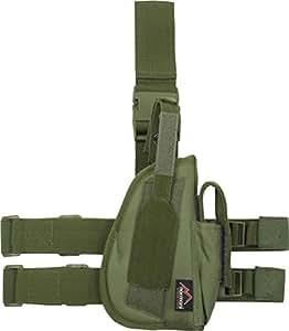 etui pistolet, fix. cuis et ceint, droit, Couleur:oliv/OD green