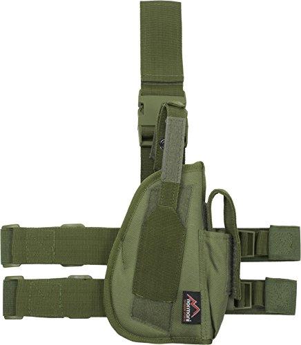 normani Pistolenholster Tiefzieholster in verschiedenen Farben für Links und Rechts Farbe Oliv Größe Links