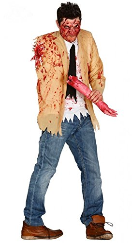 shoperama Herren-Kostüm Zombie mit abgerissenem Arm Gr. M/L blutig Halloween The Walking Dead Horror