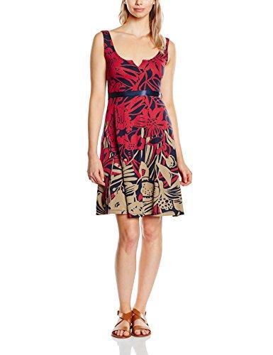 Desigual Damen A-Linie Kleid JASMINE, Knielang, Rot (SANGRIA 3161), Gr.M(Herstellergröße: L)