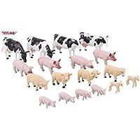 Toyland® 1:32 Scale 18 Pce Mixed Farmyard Animals Set - The Farm Collection - Collectable Farmyard Animals