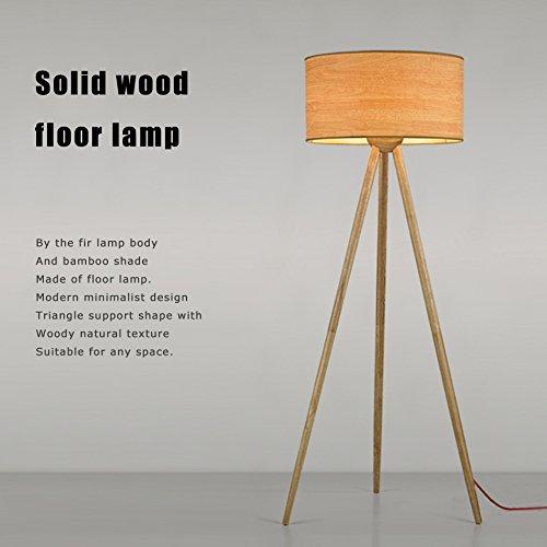 Yxx max *Lámpara de pie Lámpara de pie de Madera Morden Minimalista Living Room Dormitorio Tripod Creativo Lámpara de pie Estilo japonés Simple Vertical Iluminación
