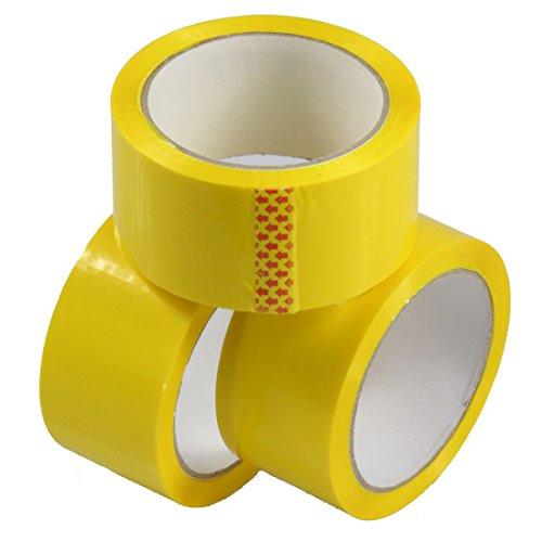 Triplast 48mm x 66m, a basso rumore imballaggio nastro, colore: giallo (Confezione da 6)