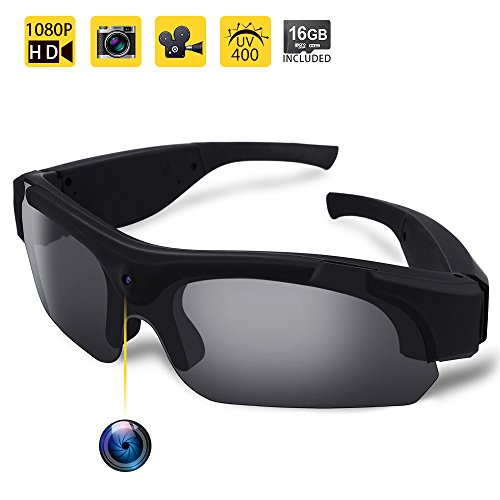 WISEUP 16GB 1080P HD Eyewear Video Recording Sunglasses Polarized Wearable Pivothead Action Hidden Spy Camera