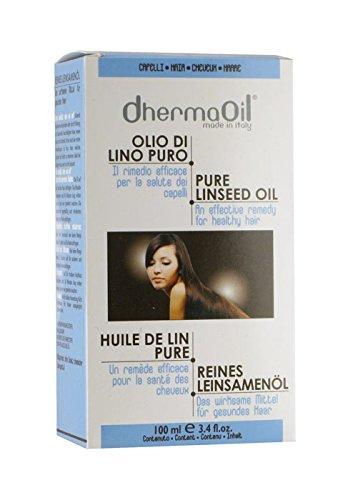 DhermaOil OLIO DI LINO PURO per la salute dei capelli - 100 ml