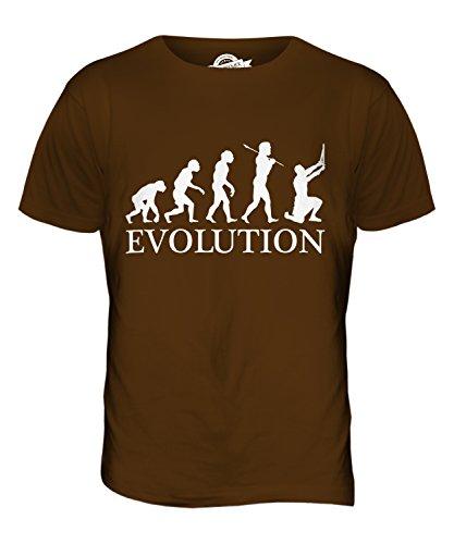 CandyMix Gladiator Evolution Des Menschen Herren T Shirt Braun
