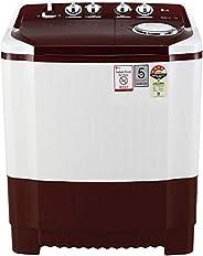 LG 7 Kg 4 Star Semi-Automatic Top Loading Washing Machine (P7010RRAY, Burgundy, Collar Scrubber)