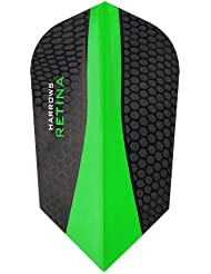 Harrows rétine Dart Flights – 5 jeux (15) – Extra fort 100 microns – Fin – Vert