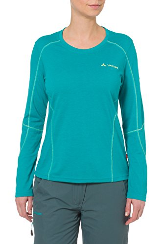 VAUDE Damen T-Shirt Womens Troms Long Sleeve Shirt Alpine Lake