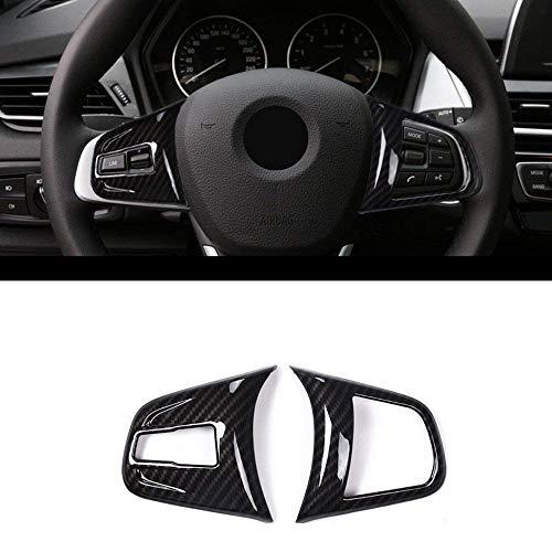 Carbon ABS Chrom Innen Dekoration Lenkrad Knopf Zubehör Rahmen Cover Trim Aufkleber für 2Serie 218i F45F46X 1F4820162017