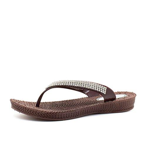 London Footwear , Ouvertes à larrière femme Marron