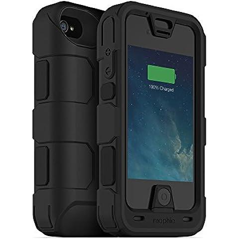 Mophie Juice Pack Pro - Funda resistente para Apple iPhone 4 y 4S, diseño rugoso, color negro
