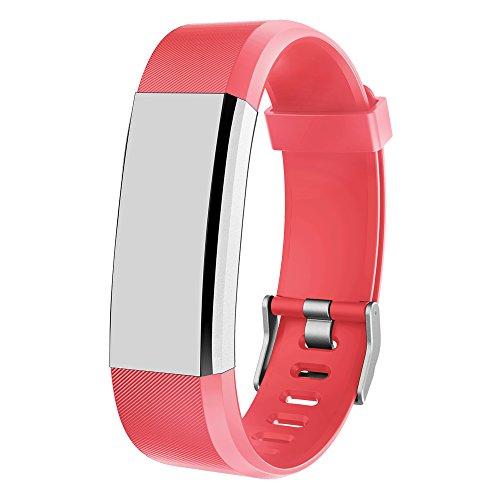 MRS LONG YG3Plus Fitness Tracker Band, Frau Lang Verstellbarer Ersatz Gurt für YG3Plus Smart Tracker Armbänder, Rot